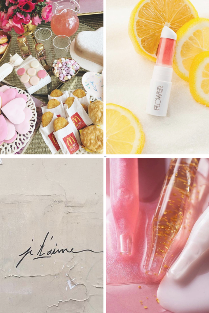 Collage of Instagram images from @aerin, @flowerbeauty, @cultbeauty, & @violette_fr