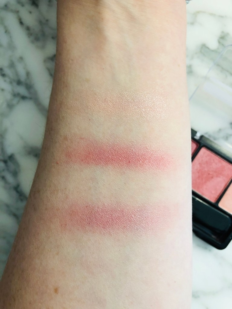 Swatches of CoverGirl Instant Cheekbones Contouring Blush in Purely Plum