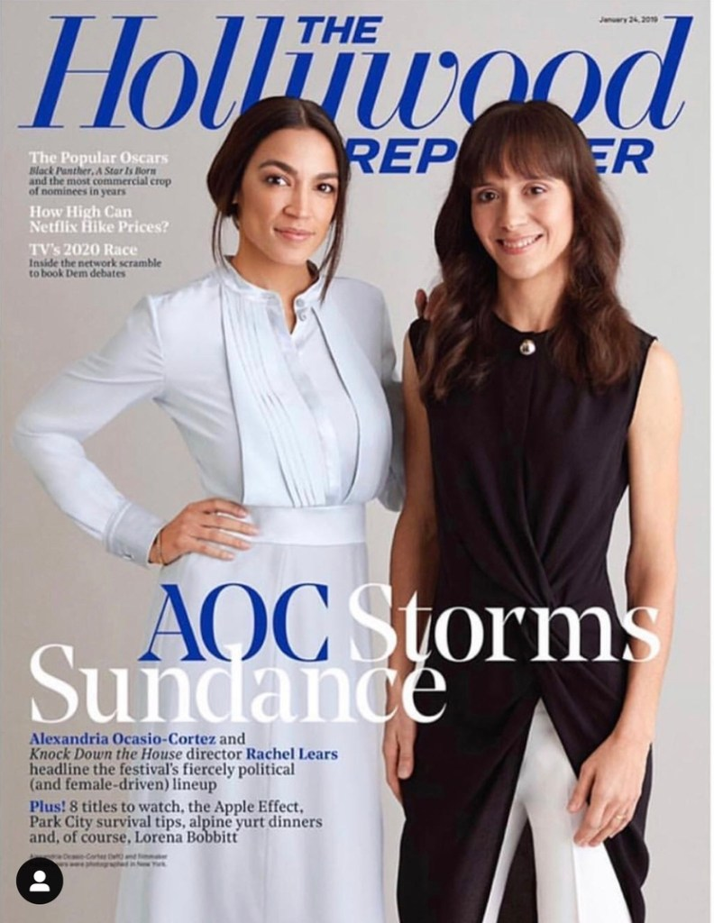 Hollywood Reporter Cover with Laura Costa as hair & makeup artist