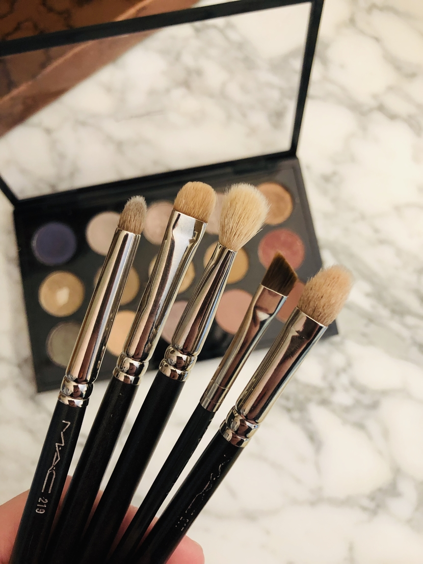 All of my MAC brushes, including the 217 (2 of them), 239, 219 & 266