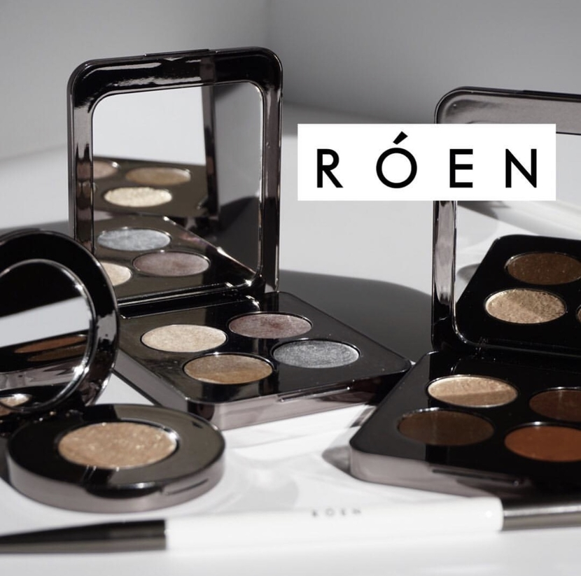 Roen Beauty makeup line, including eye palettes, single shadow & brush