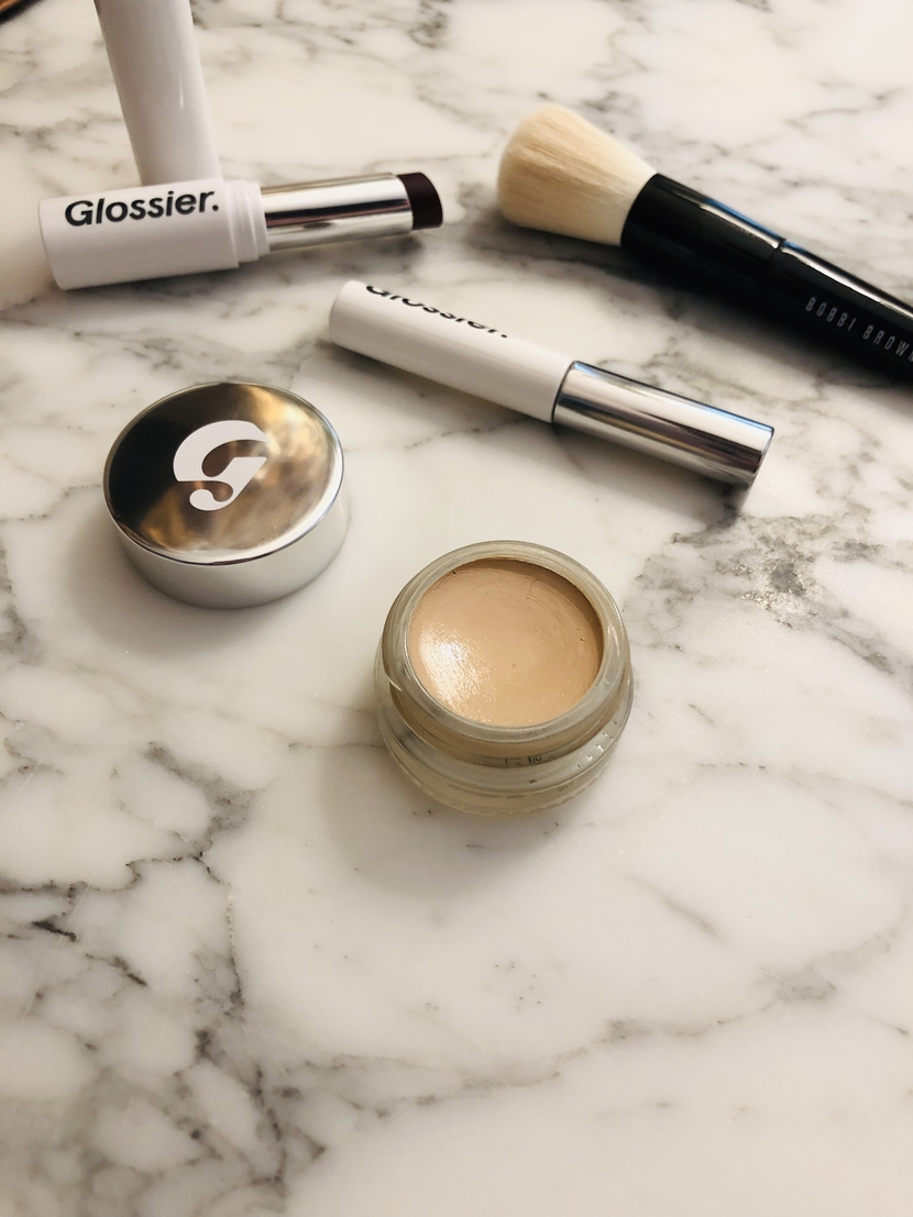 Glossier Stretch Concealer, up close, in shade G11