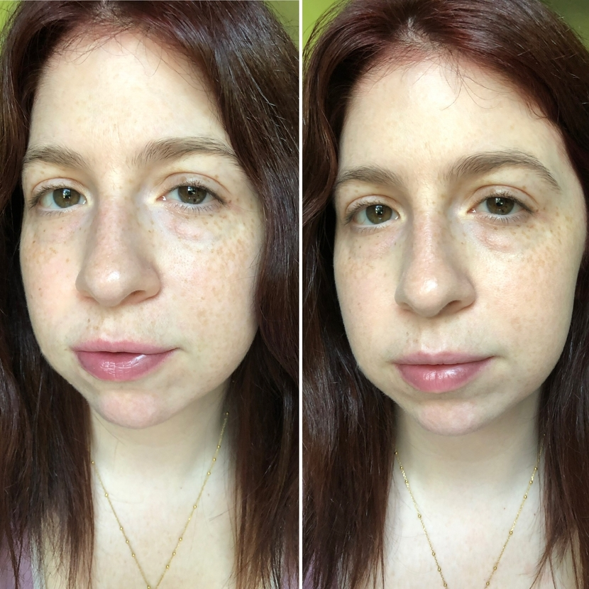 Before & after using Le Teint Particulier