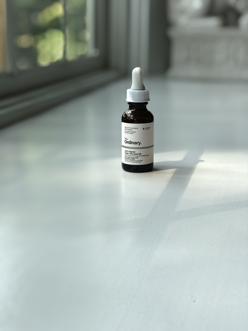 30 mo bottle of 100% Organic Virgin Chia Seed Oil from The Ordinary