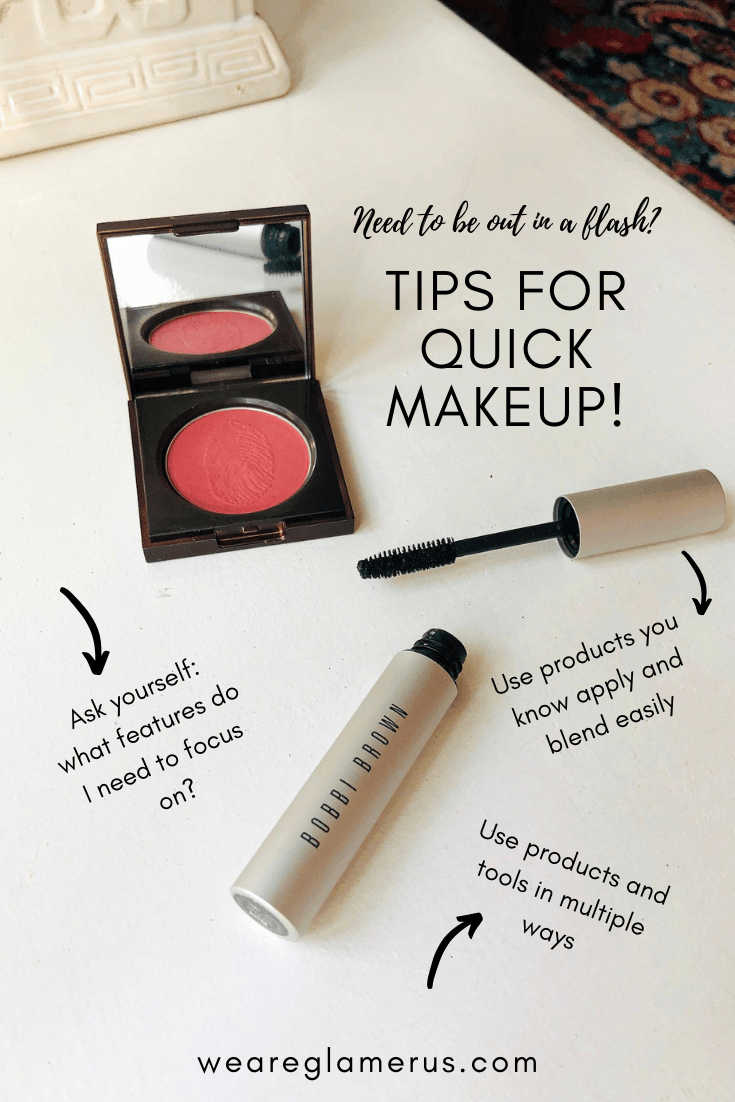 Check out my latest post with helpful tips for quick makeup application. When you're on the go, refer back to this!