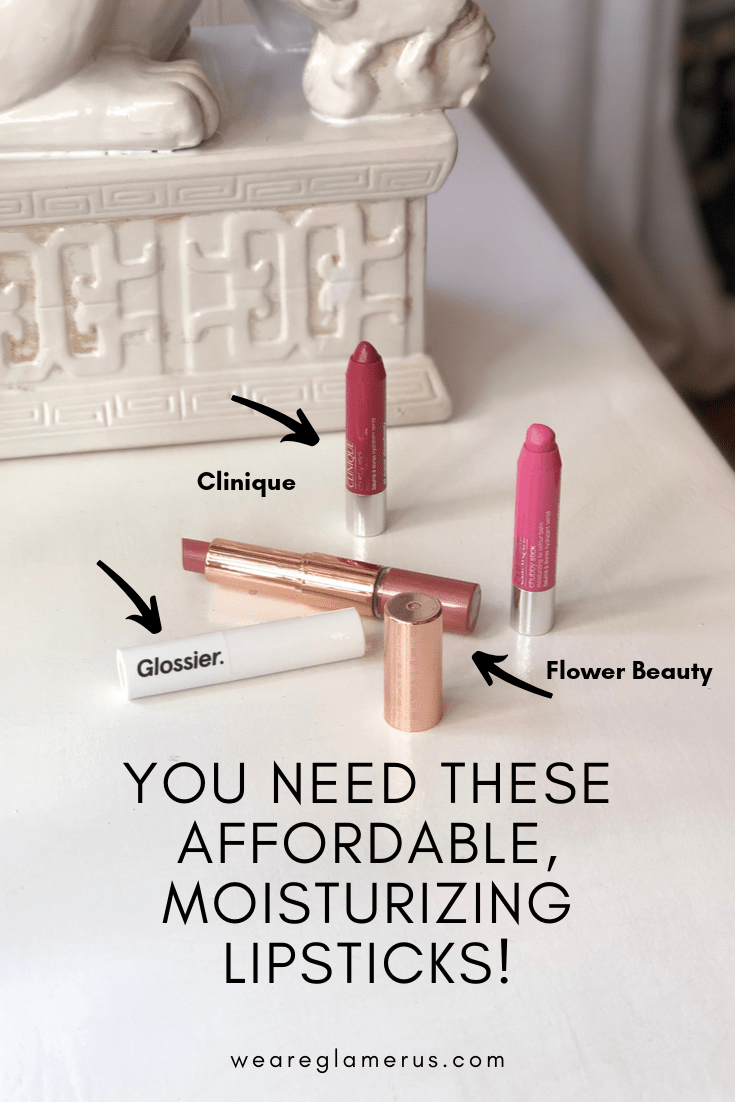 Check out my newest post with three affordable moisturizing lipsticks from Glossier, Clinique & Flower Beauty!