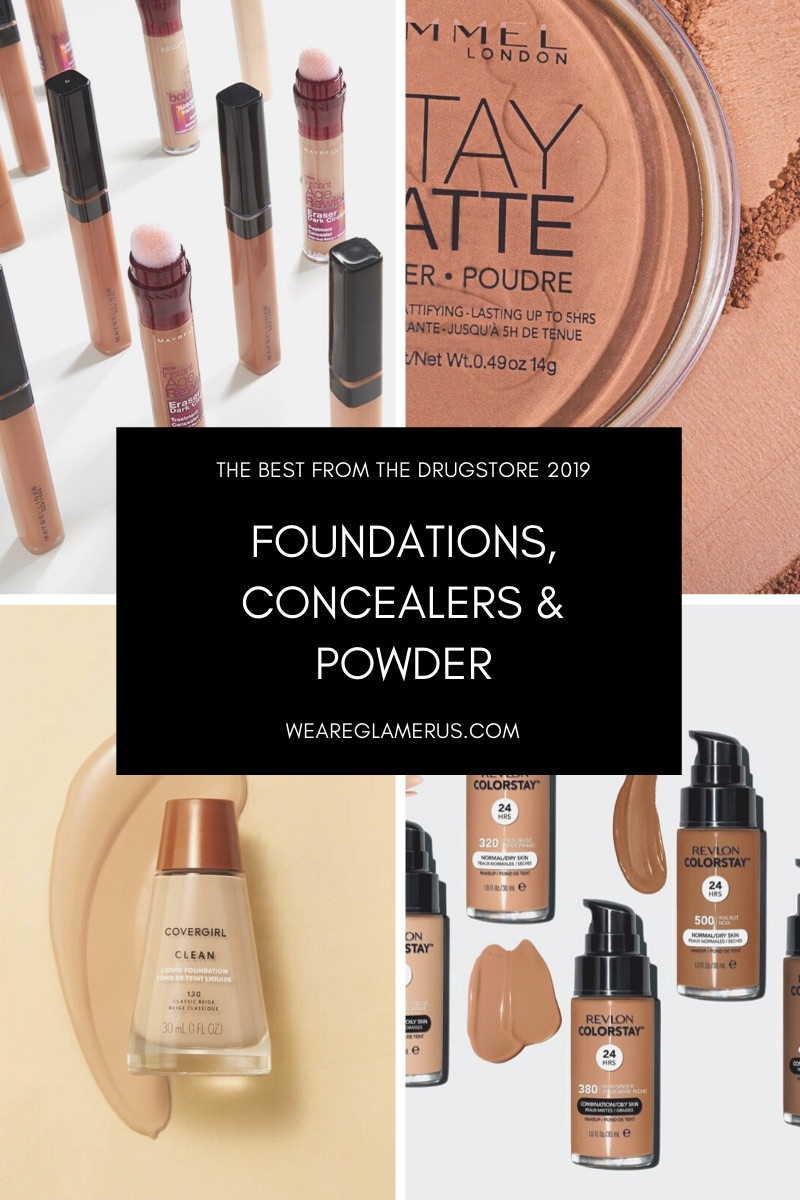 Check out my picks for the best drugstore foundations, concealers & powder of 2019