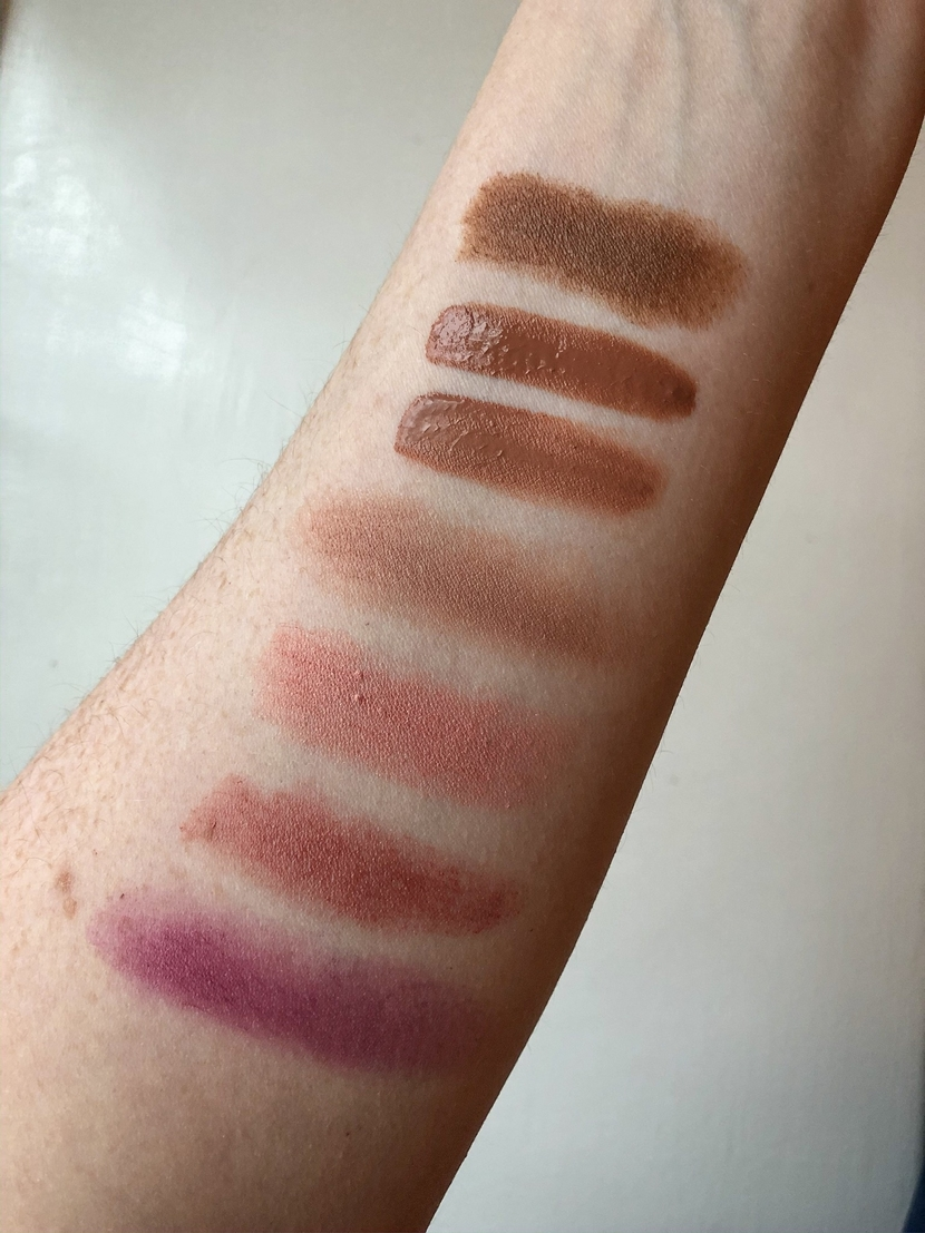 Swatches of my cream blush collection