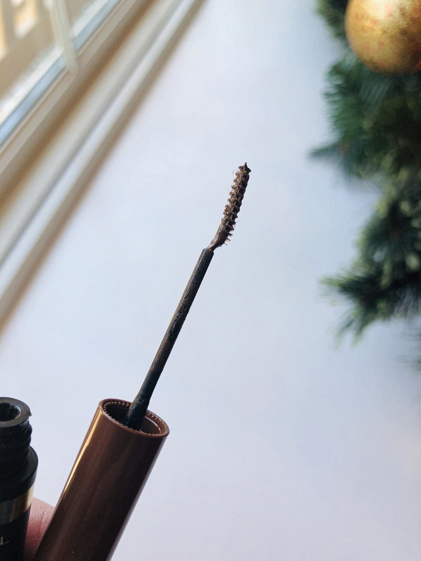 Up close view of brow brush