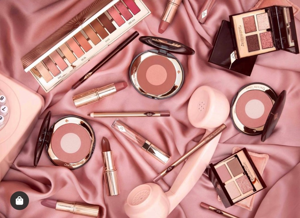 This January and February, Charlotte Tilbury is set to launch more Pillow Talk products! Flatlay of new Pillow Talk products.