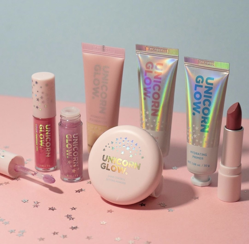 Unicorn Glow makeup line - what's new at the drugstore January 2020