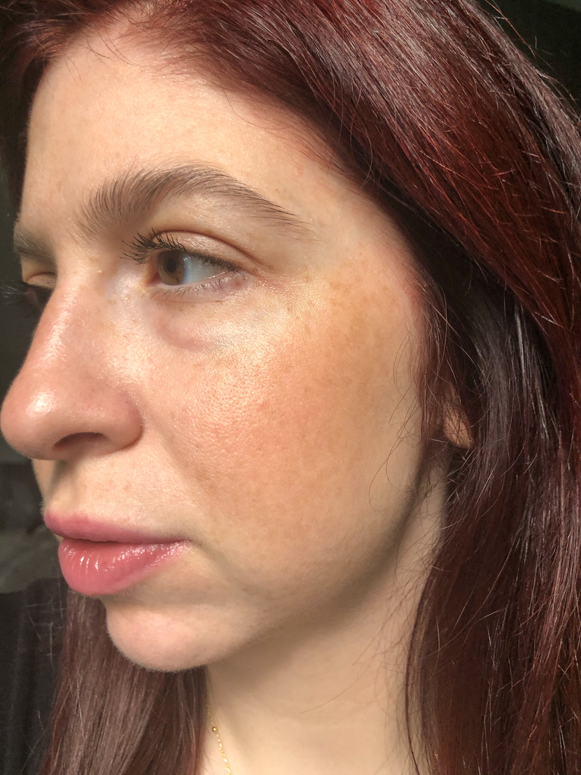 Multi-Stick in Ladybird blended across my cheeks - one of the ILIA cream blushes