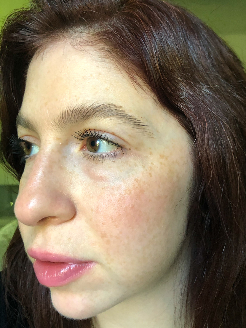 Wearing an affordable drugstore cream blush