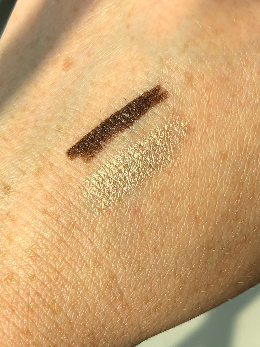 Swatches of creamy liner pencils from 19-99 Beauty