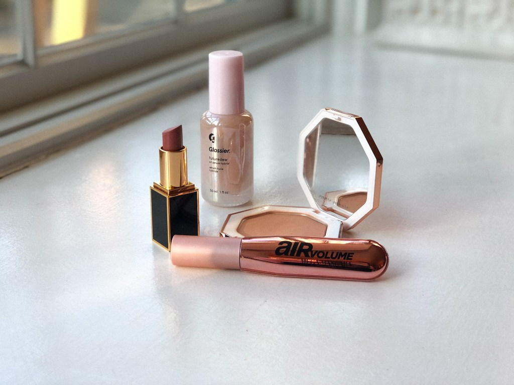 L'Oreal Air Volume Mascara, posed with other beauty products