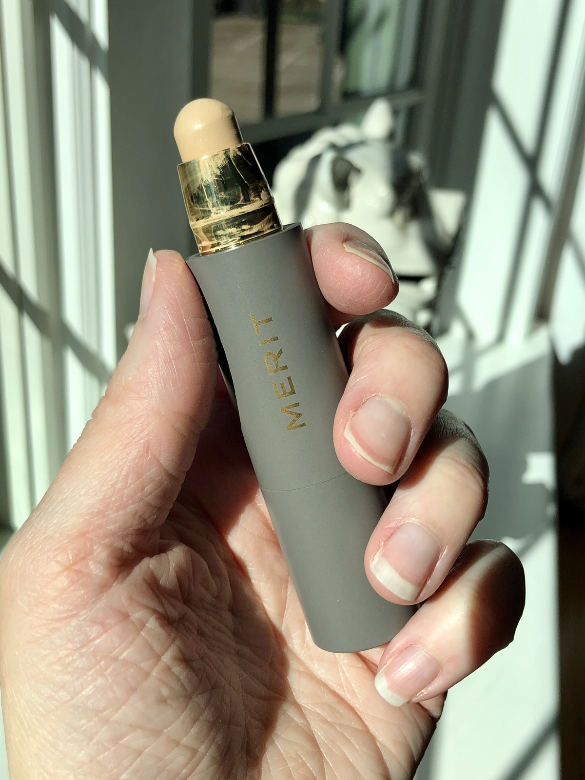 Reviewing Merit Beauty Minimalist Perfecting Complexion Stick in the shade Silk