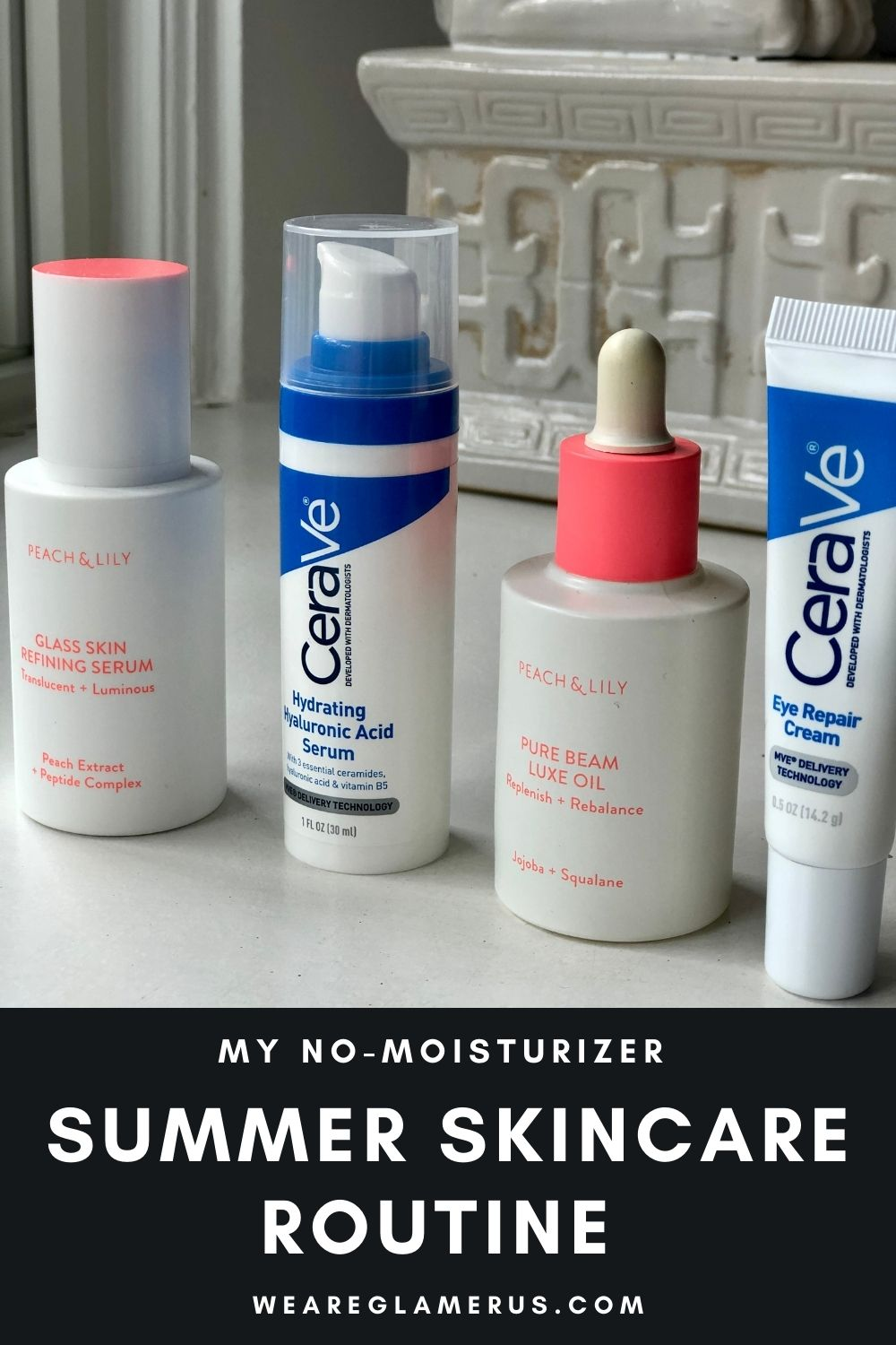 In today's post I talk you through my current no-moisturizer summer skincare routine!