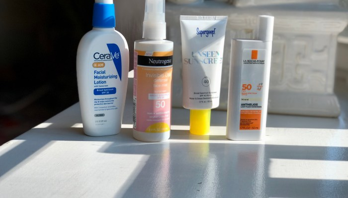 Take a tour of my (ranked) SPF collection
