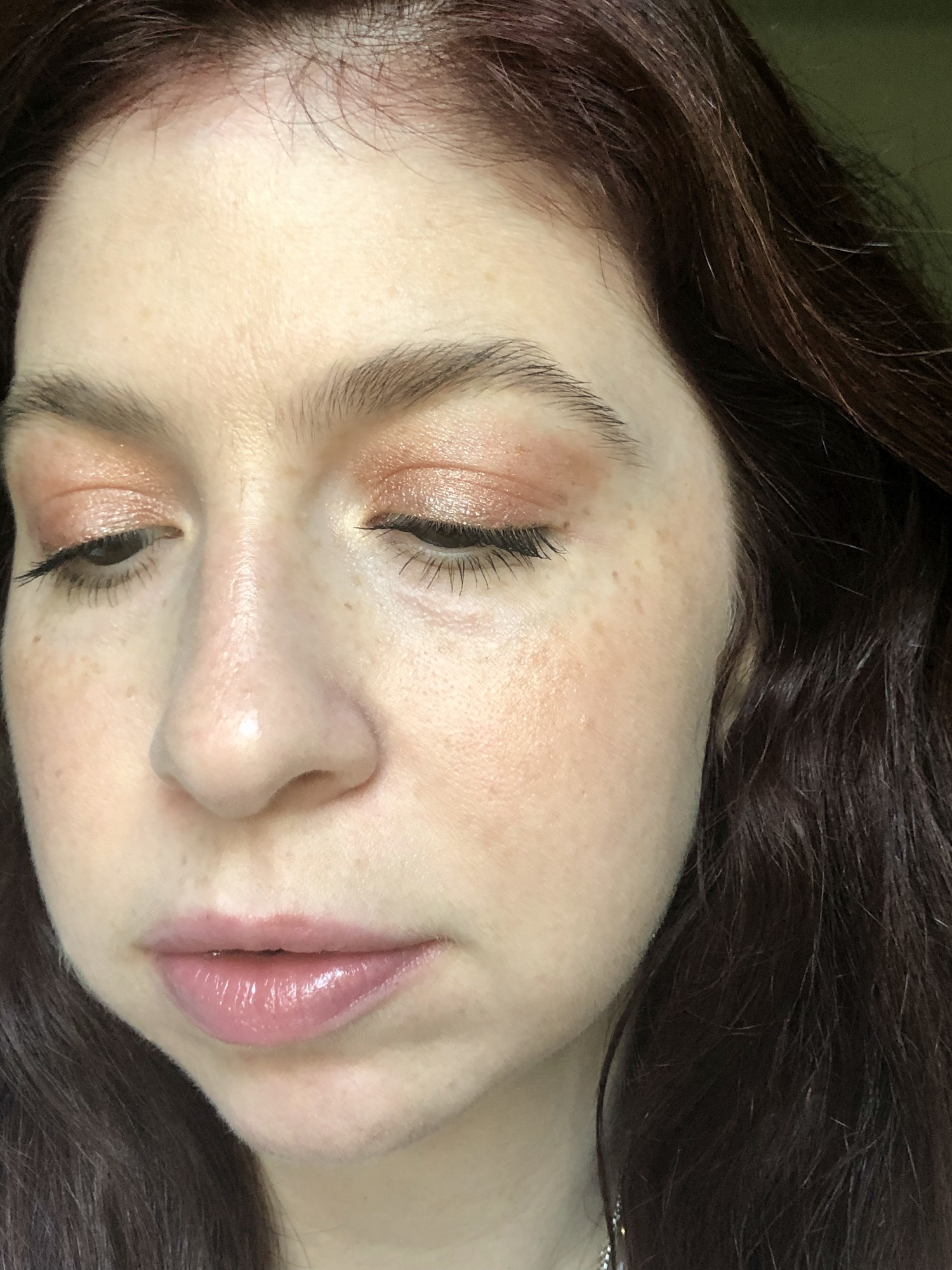 Showing off this rose gold liquid eyeshadow from an indie, female-owned brand