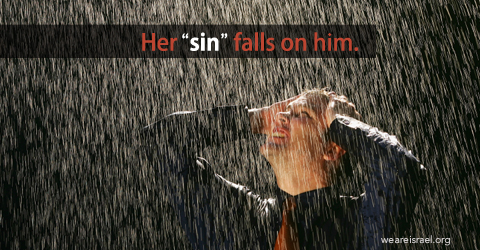 woman sin, women's sin, her sin falls on him