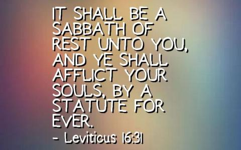 afflict your souls, Leviticus 16 31, Leviticus 23 27, day of coverings, day of atonement, Yom Kippur, Yom Kippurrim