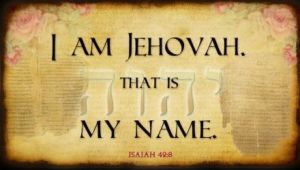 I am Yehovah