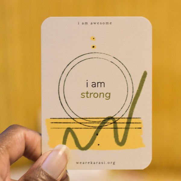 strong affirmation card