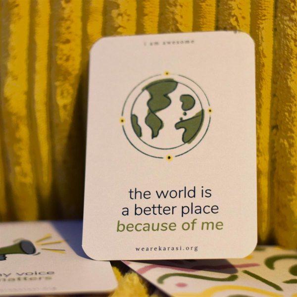 positive impact affirmation card