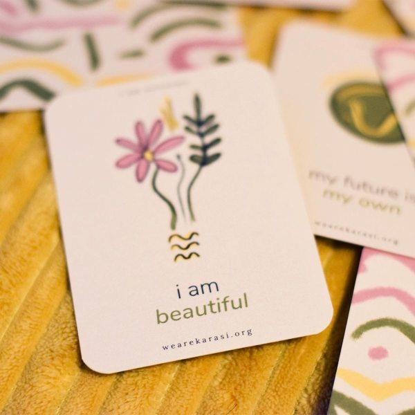 I am beautiful affirmation card
