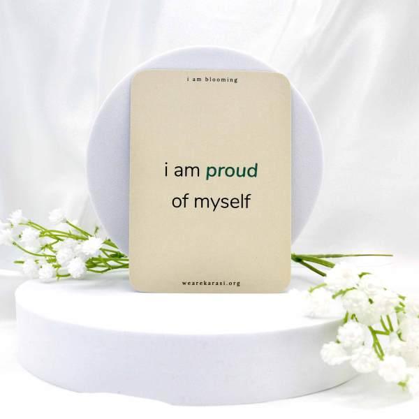 i am proud of myself card