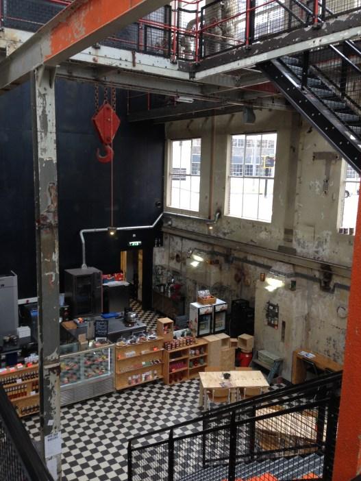 An industrial café