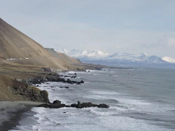 Islanda Fiordi Est via costiera mare