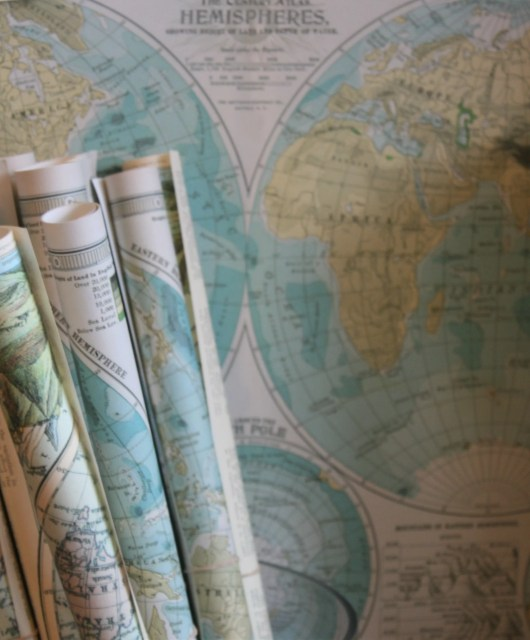 Round the world trip with books