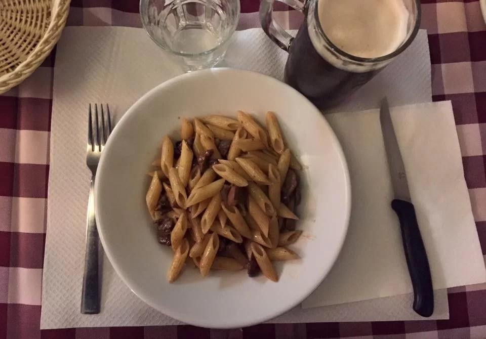 Penne al Ragù di cervo al Brutto Anatroccolo di Milano