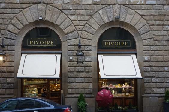 caffè rivoire e fabbrica di cioccolato in piazza della signoria a Firenze