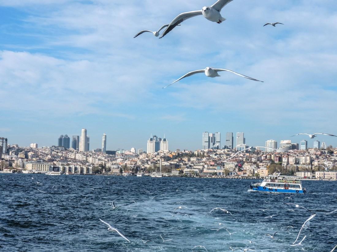 Il lato europeo di Istanbul visto dal traghetto