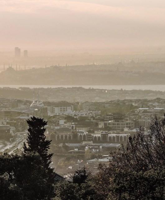 La vista sull'area europea di Istanbul da Büyük Çamlıca: un dettaglio