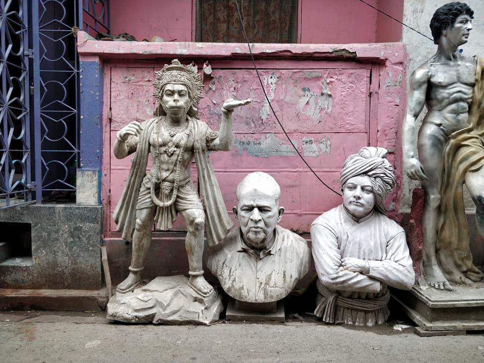 Kumartuli, il quartiere dei creatori di idoli a Calcutta