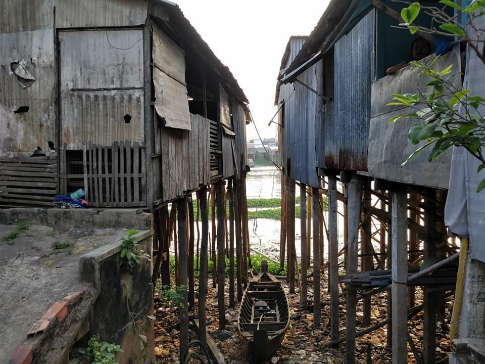 palafitte nel quartiere galleggiante di Chau Doc