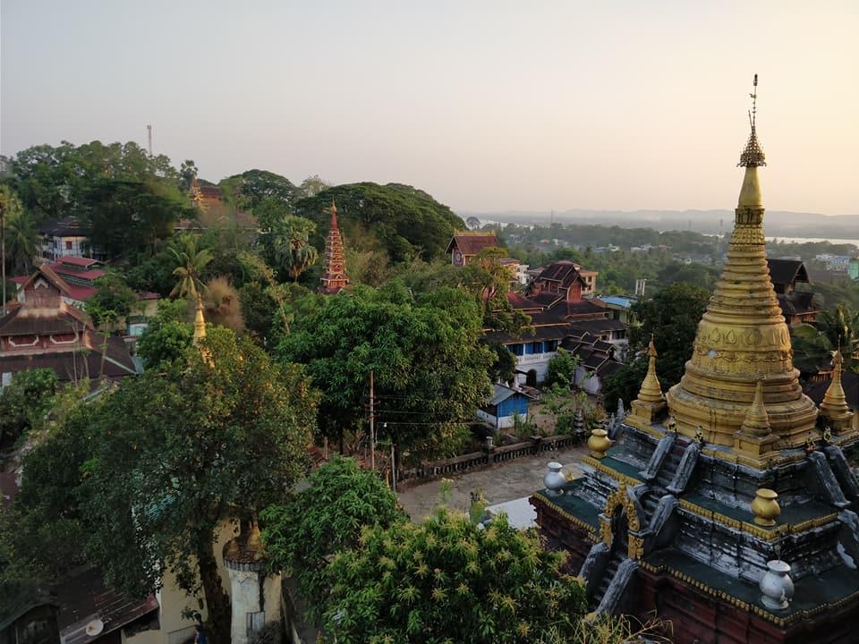 vista dalla Pagoda Kyaik-thanlan a mawlamayne