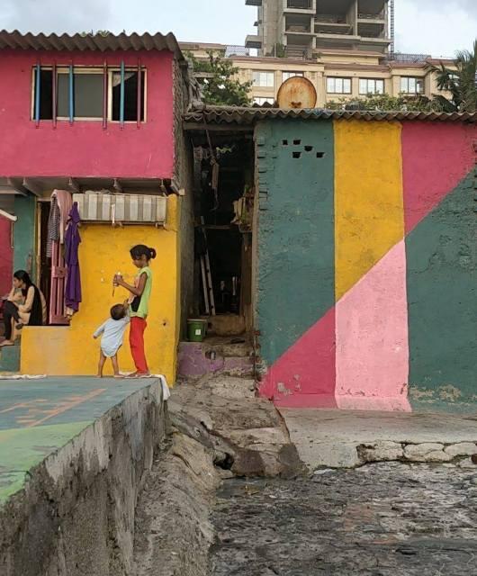 Le casette sul mare a Bandra a Mumbai