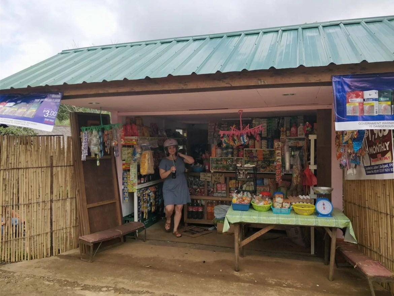 Chioschetto sull'isola di Palawan nelle Filippine