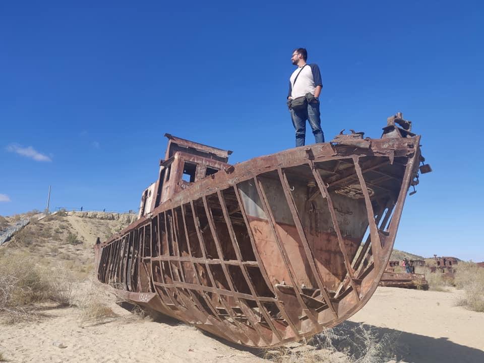 I relitti delle navi nel lago d'aral