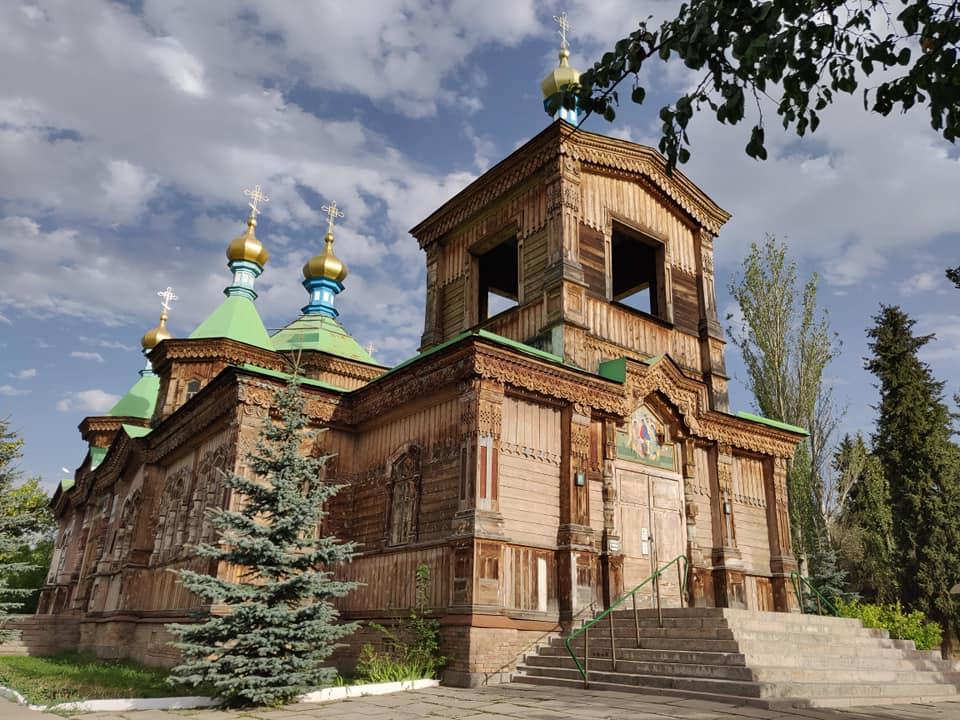 La cattedrale ortodossa di Karakol in Kirghizistan