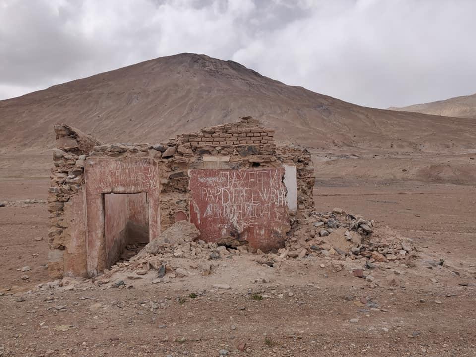 tra Karakul e Murghab sul Pamir in Tajikistan