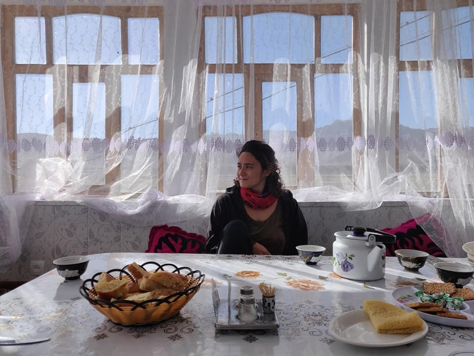 Colazione nella nostra guesthouse a Murghab