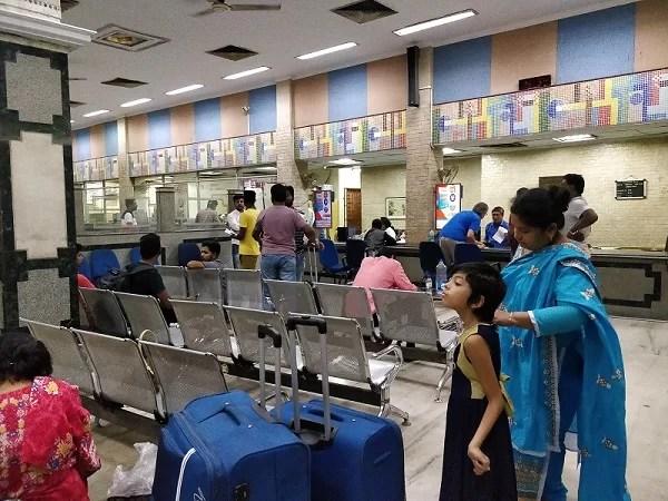 Gli uffici dove si prenotano i biglietti con la Foreign Tourist Quota a Calcutta sono distinti da quelli generali