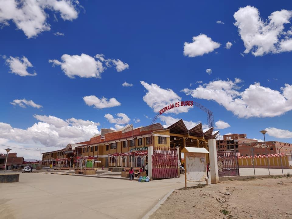 il terminal dei bus di Villazon in Bolivia