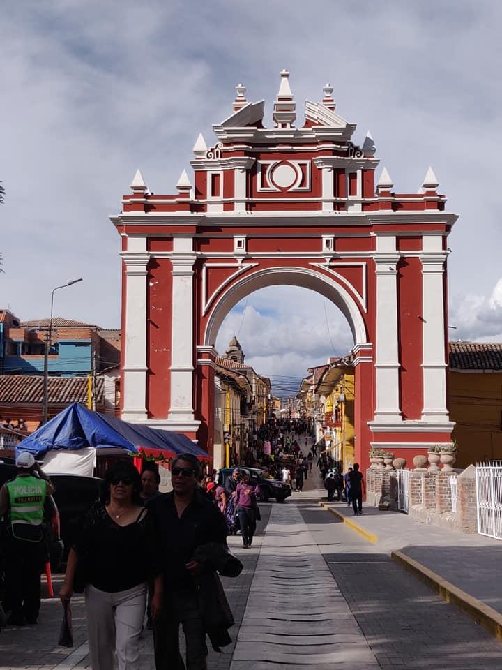 Arco del Triunfo ad Ayacucho in Perù