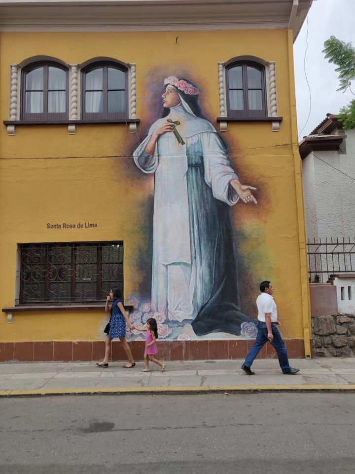 murales nel centro di Cochabamba